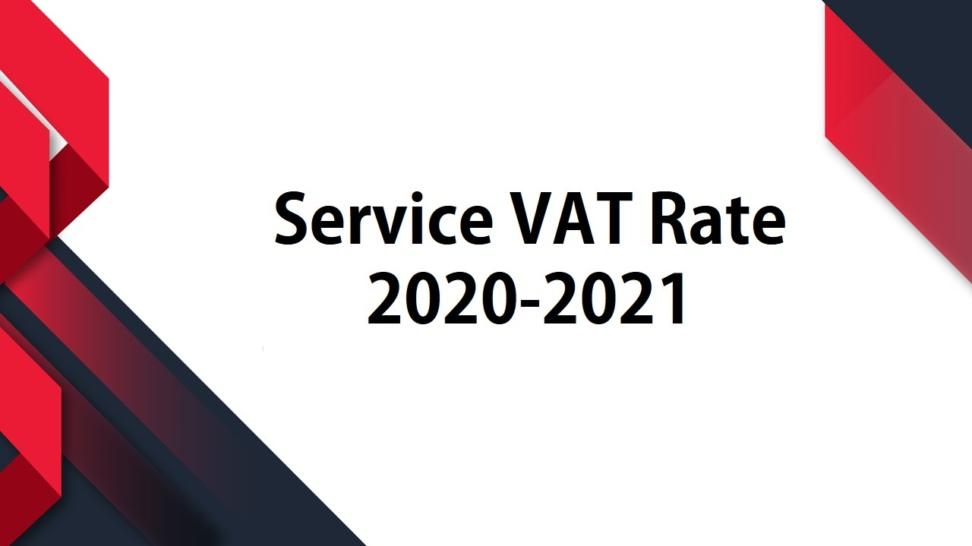Service VAT Rate 2020-2021
